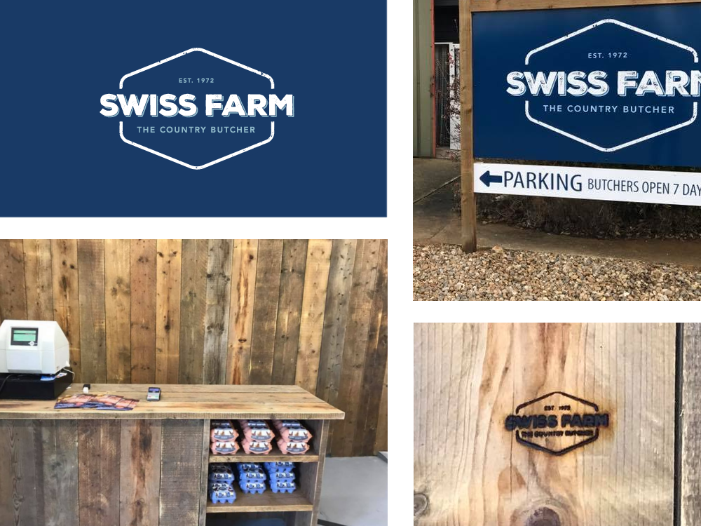 Collage of Swiss Farm Work