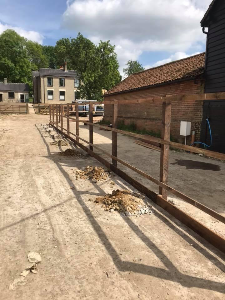 Partway thru a fencing job
